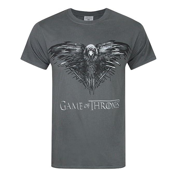 De Oficial Game Tronos Cuervo Of Juego Thrones Camiseta Con e2IWD9YHbE