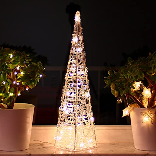 Weihnachtsdeko Beleuchtet.Led Pyramide 60 Cm Weihnachtsdeko Beleuchtet Licht Kegel Leuchtkegel