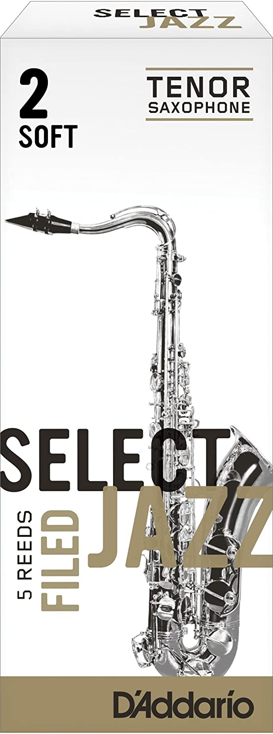 Rico Select Jazz Tenor Sax Reeds, Unfiled, Strength 3 Strength Medium, 5-pack D'Addario &Co. Inc RRS05TSX3M