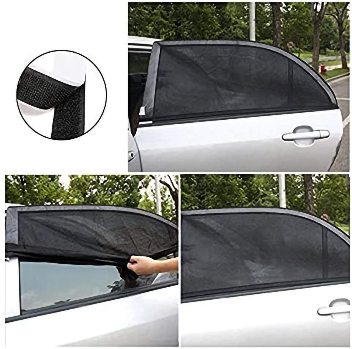 Car Window Sun Shades Universal Car Rear Side Window Sunshade Curtains Breathable Mesh Protect Baby Kids For Most Of Cars