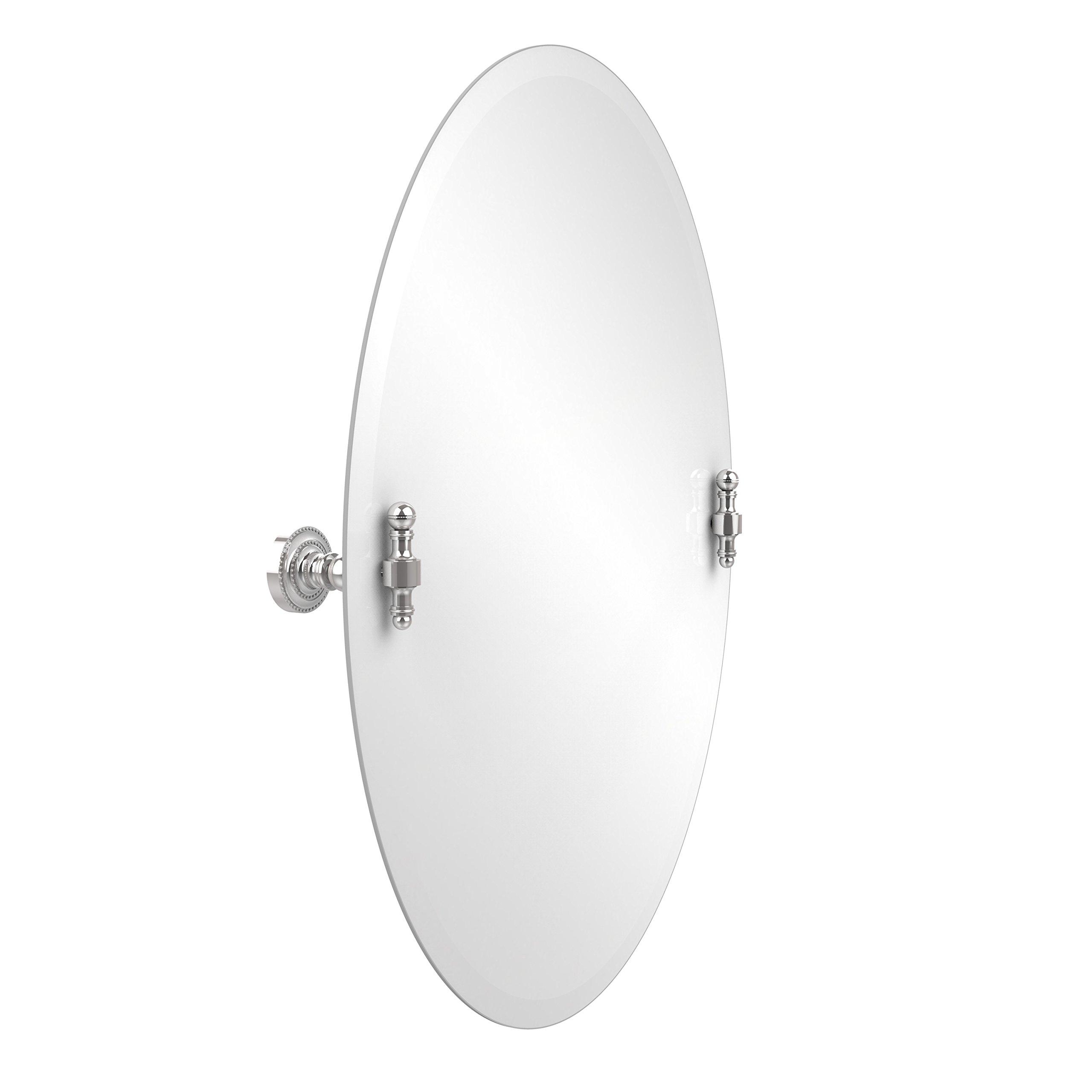 Allied Brass RD-91-PC 21-Inchx29-Inch Oval Tilt Mirror, Polished Chrome