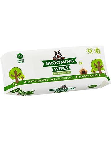 Pogis Grooming Wipes - Toallitas húmedas - 100 toallitas desodorantes para Perros - Aroma de té