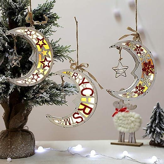 Christmas Exquisite Wooden Pendant Hanging Christmas Tree Pendant Decoration