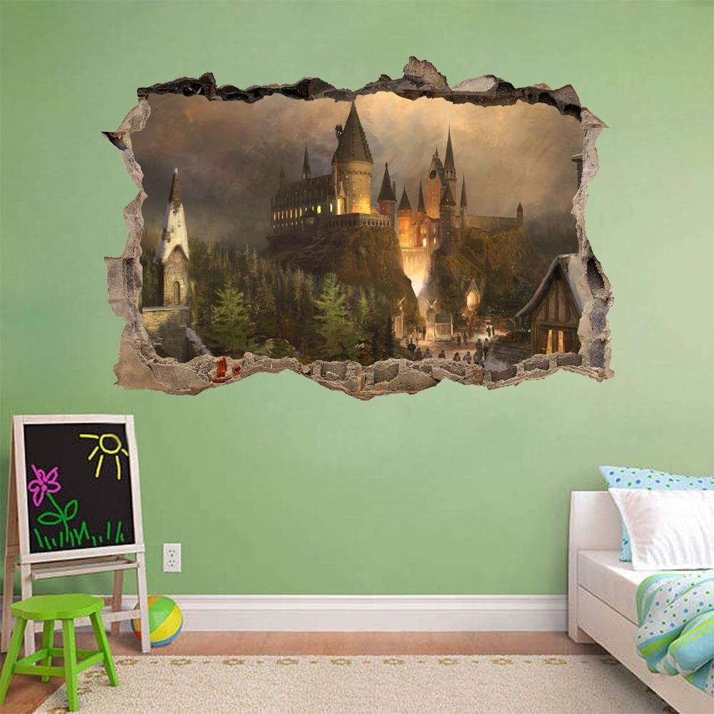 Amazoncom Hogwarts Harry Potter Smashed Wall Decal Wall Sticker - Wall decals harry potter