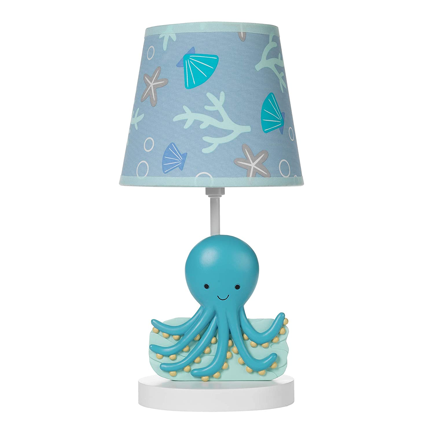 Multicolor Bedtime Originals Whales Tale Lamp with Shade /& Bulb