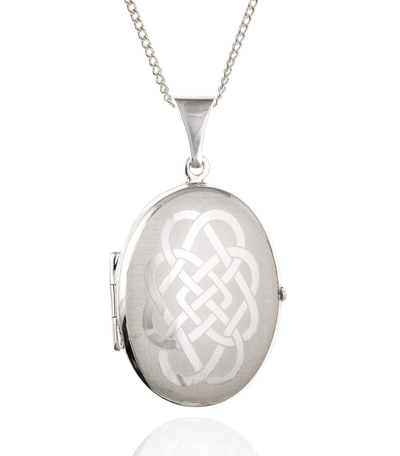jewelry limoges silver memorial celtic lockets locket necklace sterling engraved