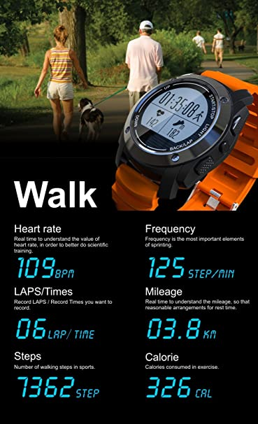 Amazon.com: S928 GPS Outdoor Sports Smart Watch IP66 Life ...