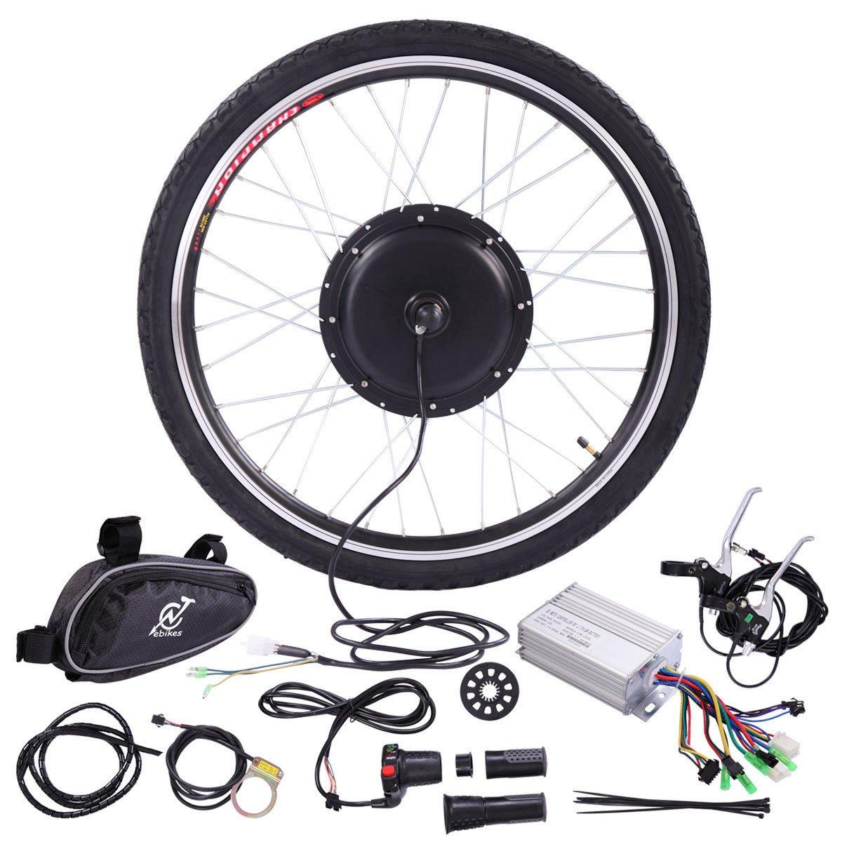 JAXPETY 36V 500W Electric Bicycle Cycle 26'' E Bike Front Wheel Ebike Hub Motor Conversion Kit Hub Motor Wheel by JAXPETY