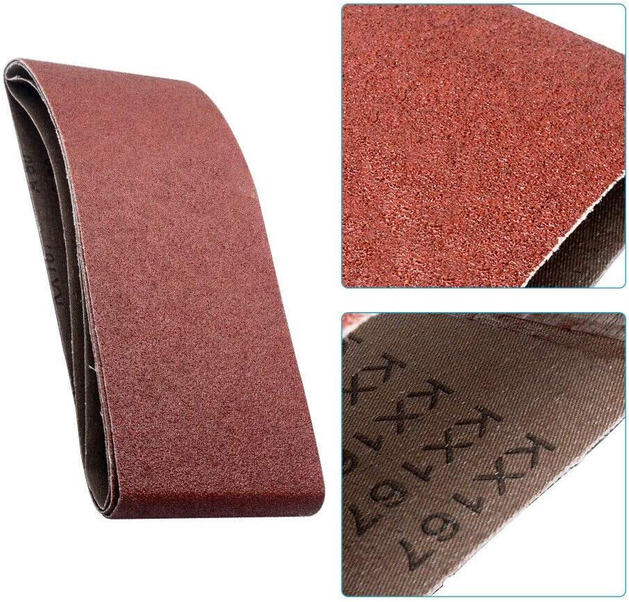 5PCS Bandes abrasives,pour ponceuse /à bande//courroies abrasives,75mm x 533mm,grains 1000