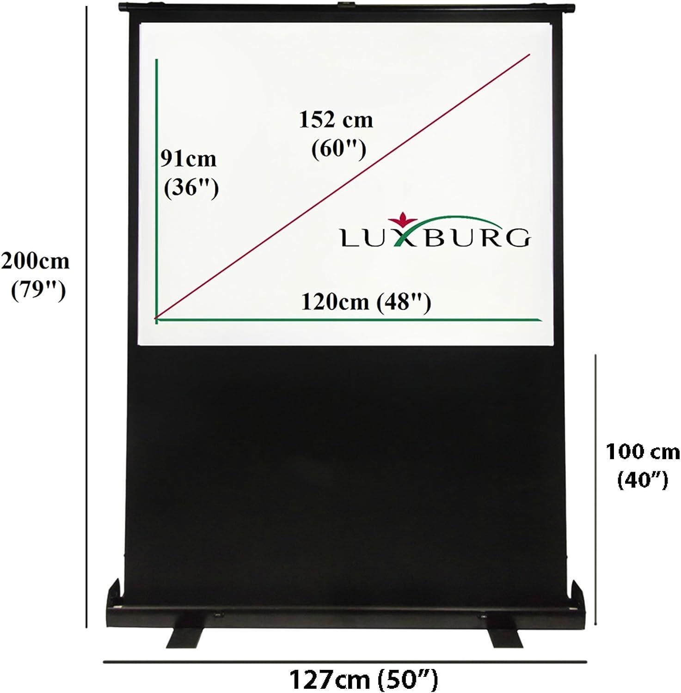 Luxburg - Pantalla de proyección portátil Manual con Base de 60 ...