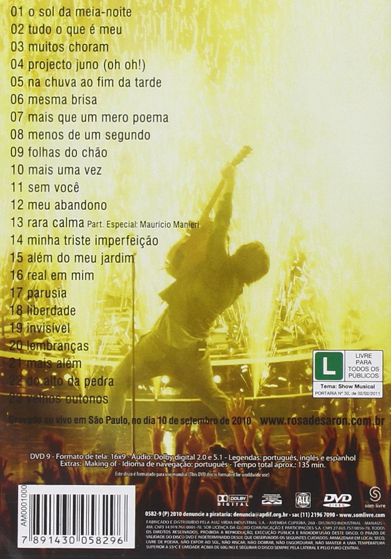 dvd do rosa de saron horizonte vivo distante para