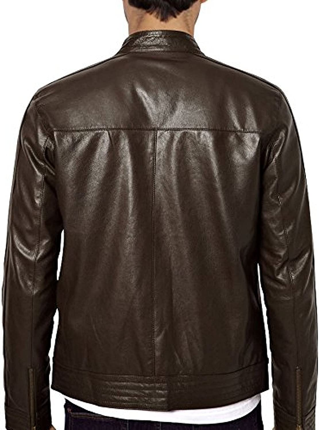 Kingdom Leather New Men Quilted Leather Jacket Soft Lambskin Biker Bomber X681