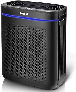 PARTU HEPA Air Purifier, Advanced Auto Mode, Smart Sensor, Lock Set Effectively Eliminates Smoke, Dust, Pollen, Pet Dander For Home/Office (Available for California)