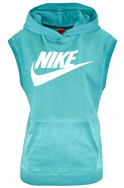 order online buy best cheap for sale Nike Damen Sweatshirt Shirt ohne Ärmel Hoodie Kapuze: Amazon ...