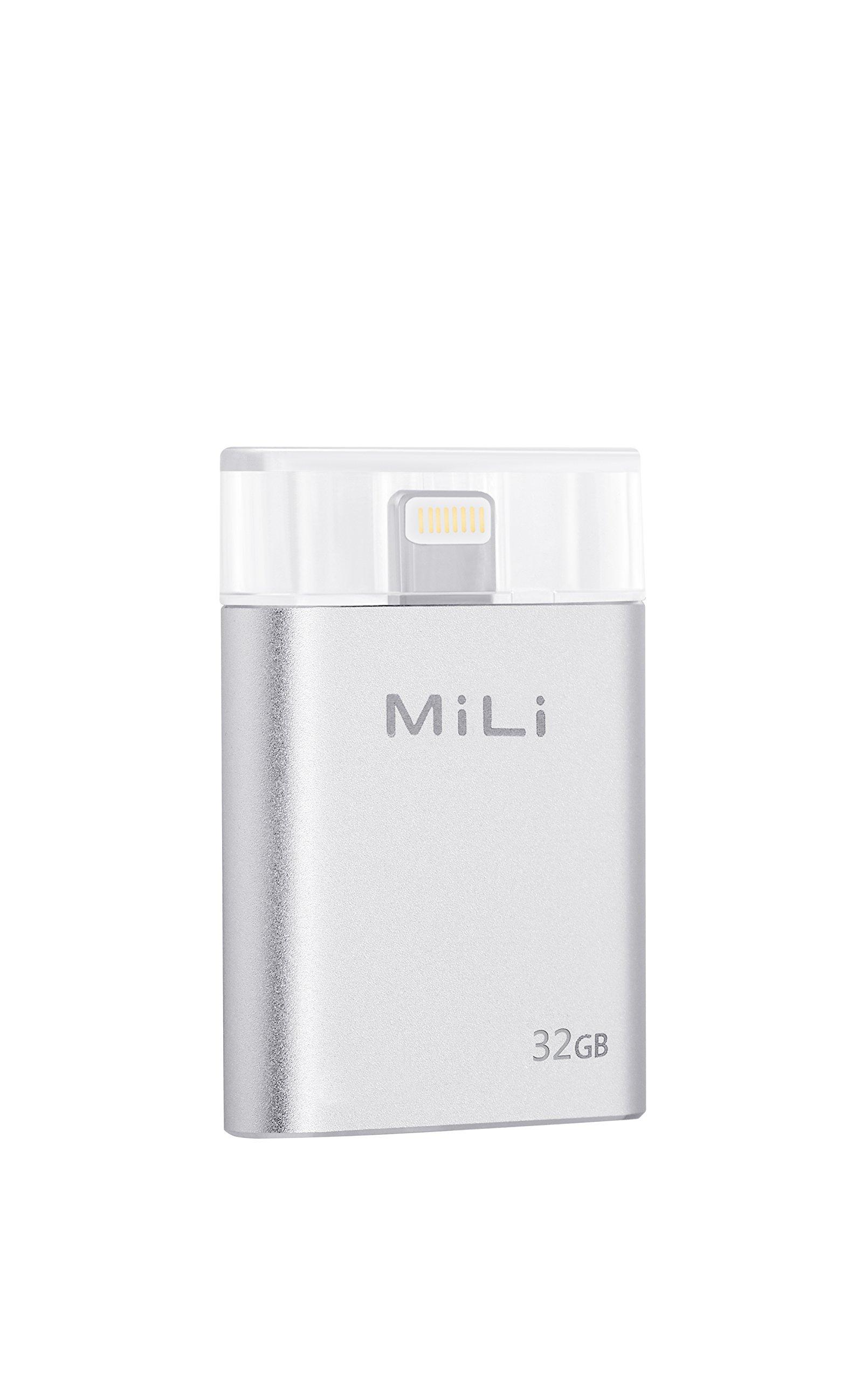 USB Flash Drive [Apple MFi Certified] MiLi iData 32G Portable Storage USB Flash Drive Specialized for iphone 6/6 plus/5/5s/5c/ipad 4/ipad mini/i Mac/ipod With Lightning Device