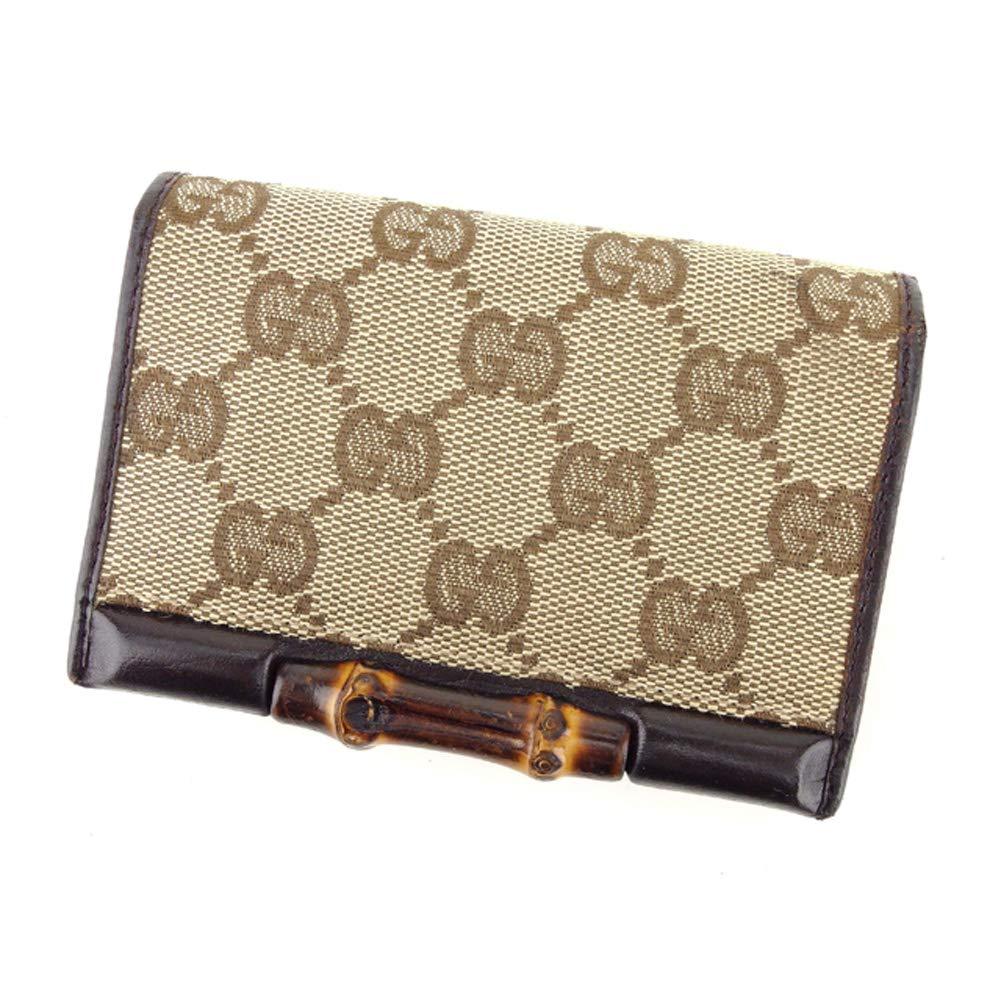 (グッチ) Gucci カードケース GGキャンバス ブラウン ベージュ レディース メンズ 中古 E1367   B07KY78TS8