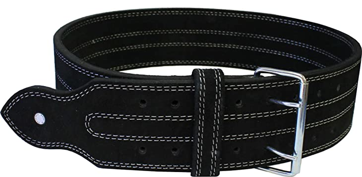 "Ader Leather Power Lifting Weight Belt- 4"" Black"