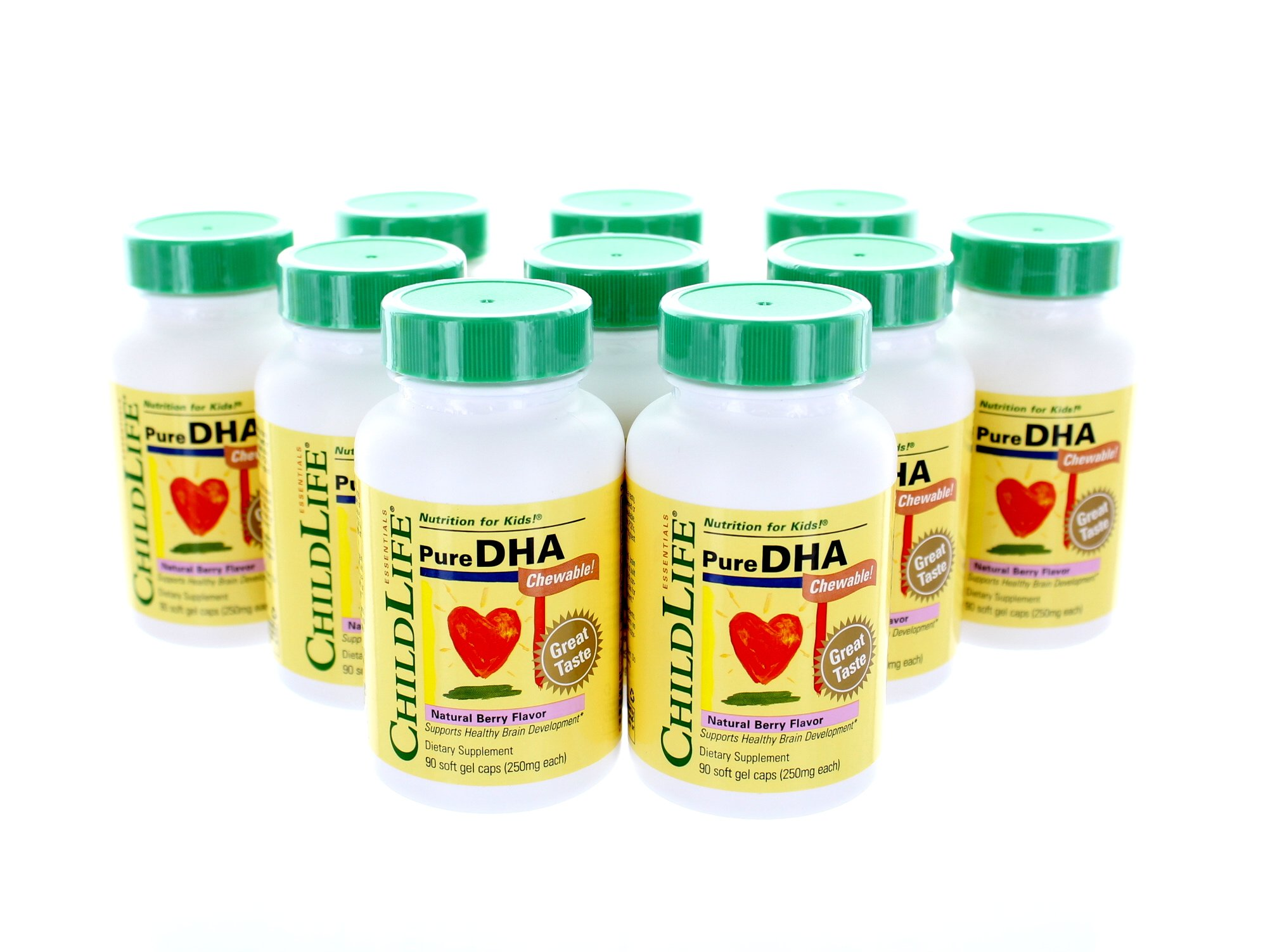 Childlife Pure DHA Berry - 90 Softgels- Pack of 10