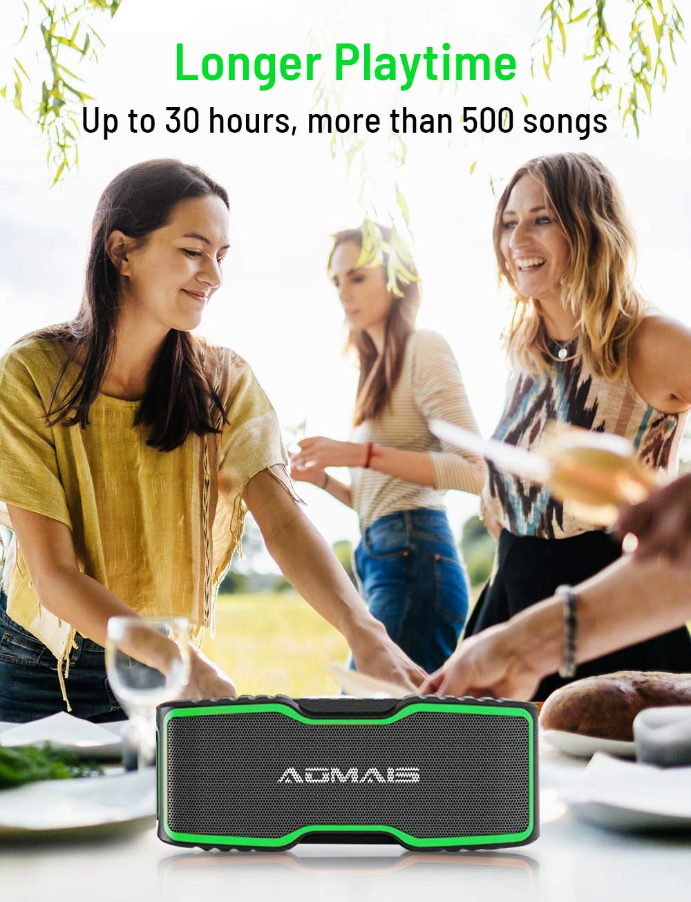 99ft Wireless Range for Travel IPX7 Waterproof Aomais Sport II+ Bluetooth Speakers Pool 30H Playtime Portable Outdoor Speaker 20W Clear Stereo Sound with Richer Bass Party Update Version Beach