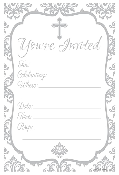 Amazon Religious Celebration Invitations Fill In Style 20 – Confirmation Party Invitations