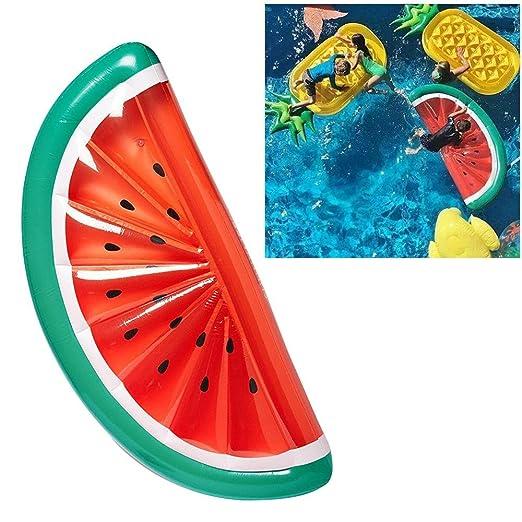 AOLVO Watermelon Flotador de Piscina, Hinchable, Mitad ...