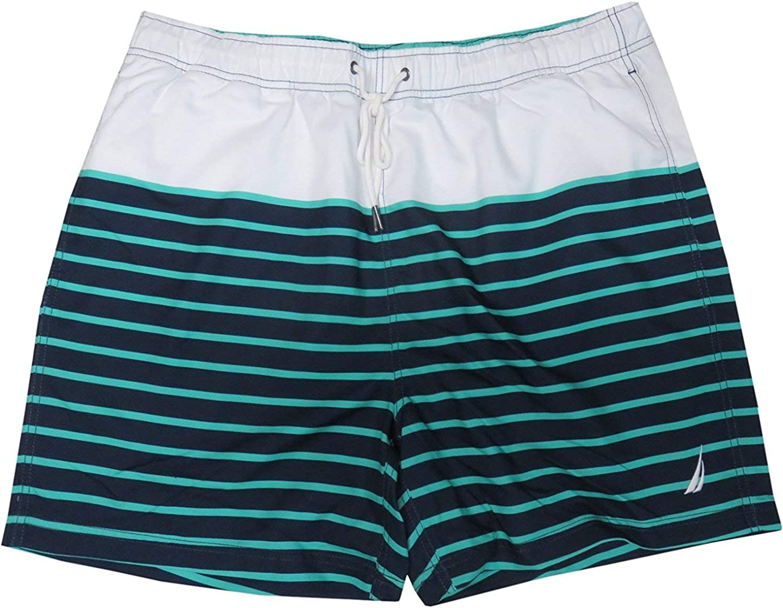 NEW Mens NAUTICA Green Navy Swim Shorts Trunks Swimsuit Size XL $60