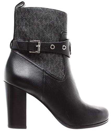 ee26c081b53b05 Michael Kors Damen Schuhe Stiefeletten Heather Bootie Leather 40F8HAHE6L  Black
