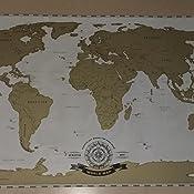 Amazon.de: Scrape Off World Map - Weltkarte zum Rubbeln