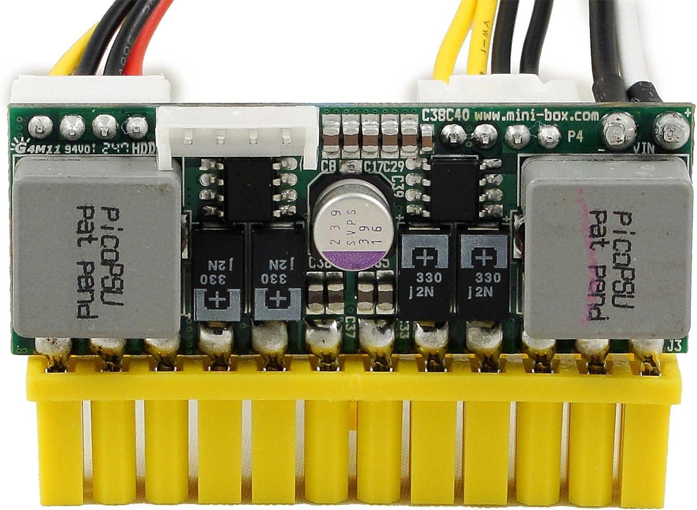 Mini-Box Fuente de alimentación Mini Caja picoPSU-150-XT 12V DC-DC ...