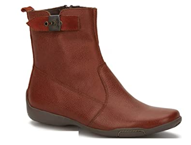 Dr. Scholl's Original Collection Women's Shoes Comfort Gel Cushion Genuine Leather Brown Flat Ankle Boot