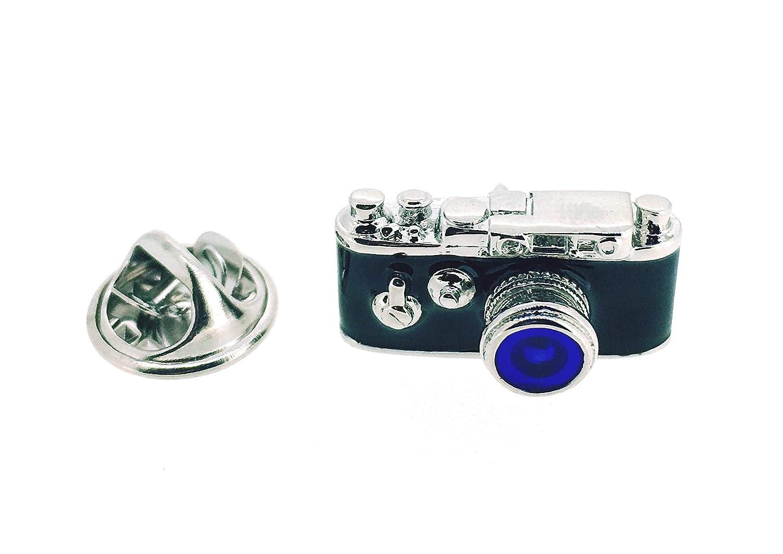 Gemelolandia Pin de Solapa Cámara de Fotos Analógica Objetivo Azul ...