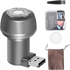 LHJCN Afeitadora eléctrica,Máquina de Afeitar Eléctrica Mini máquina de Afeitar móvil de USB para Android, máquina de Afeitar Creativa portátil del Viaje en Coche del Regalo, Micro+USB: Amazon.es: Deportes y aire libre
