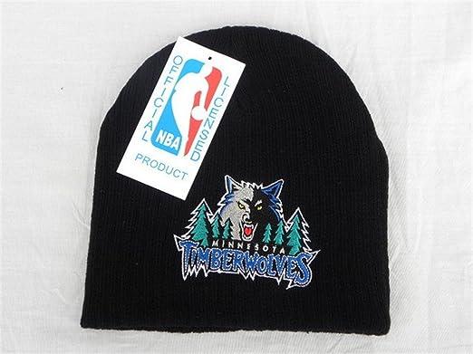 Minnesota Timberwolves TISA Beanie   Hat Black with Blue Logo ... 6acaa324597