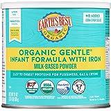 Earth's Best Organic Gentle Baby Formula, Infant Formula with Iron, Non-GMO, Omega-3 DHA and Omega-6 ARA, 21 oz