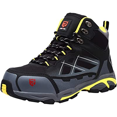 LARNMERN Steel Toe Boots,Mens Work Safety Outdoor Protection Footwear Industrial and Construction Boots: Shoes