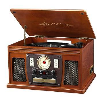 Amazon.com: Victrola 7 en 1 reacondicionado reproductor de ...