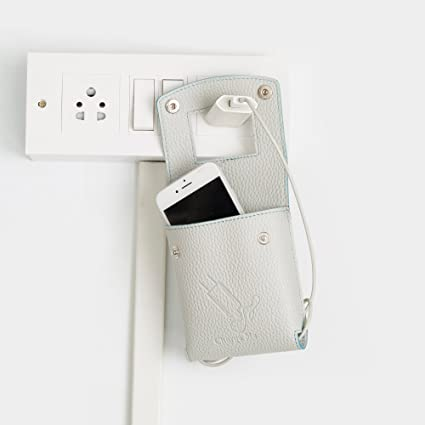 2694613db8 Walletsnbags Mobile Charger Wall Hanger/Holder Beige: Amazon.in ...
