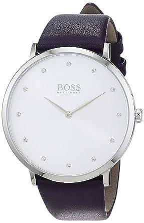 Hugo BOSS Reloj Análogo clásico para Mujer de Cuarzo con Correa en Cuero 1502410: Amazon.es: Relojes