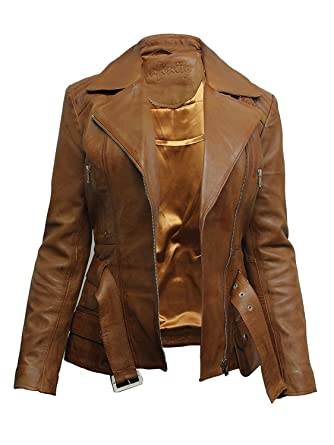 23c8b7648 Womens Leather Blazer Jacket Real Lamb Skin Trench Mid Length ...