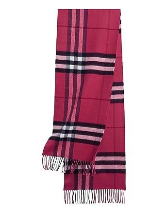 37a46ca91412 BURBERRY LONDON - Echarpe 100% Cachemire - 168 x 30cm (38950931) - rouge