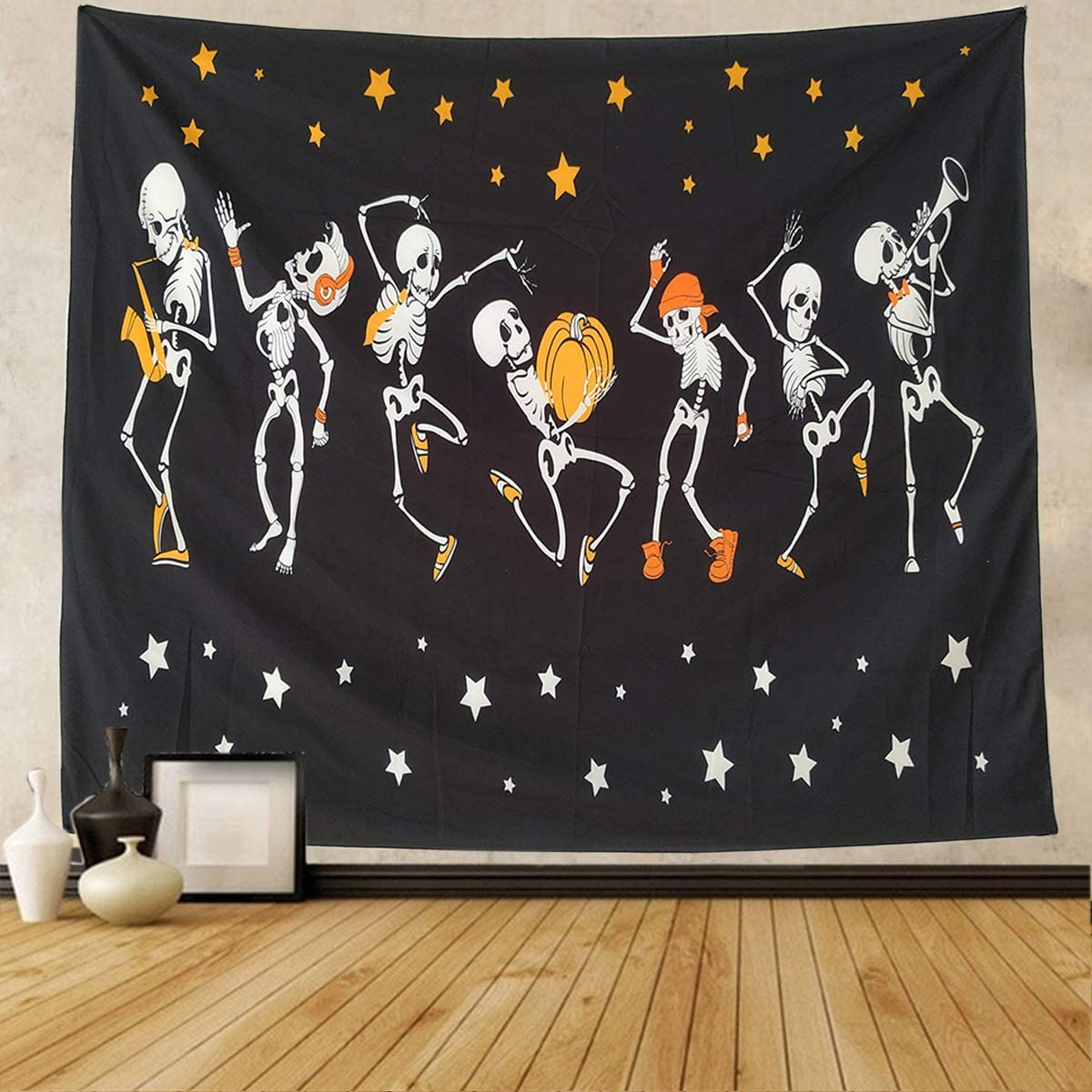 """NASKY Halloween Wall Tapestry Tapestry Wall Hanging Skull Tapestry Trippy Black and White Tapestry for Room Paty Decor(59.1"""" X 78.7""""-(150x200cm)"""