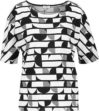 Gerry Weber Camiseta de mujer con mezcla de patrones, estilo ...