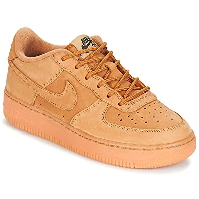 meet d0219 7acef Nike Air Force 1 Winter Premium GS Kids Trainers Wheat - 4 UK