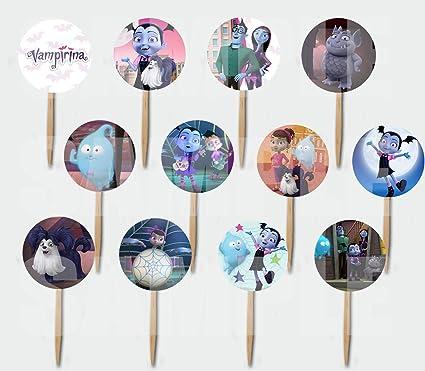 Amazon.com: VAMPIRINA Picks - Decoración para tartas de ...