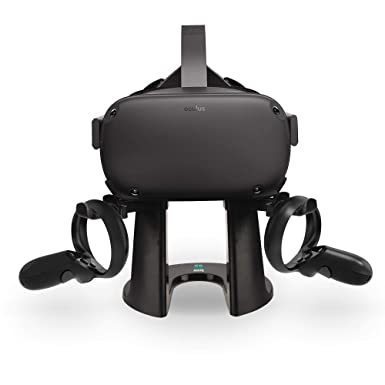 AMVR VR Stand,Headset Display Holder and Controller Mount Station for  Oculus Rift S/Oculus Quest Headset and Touch Controllers