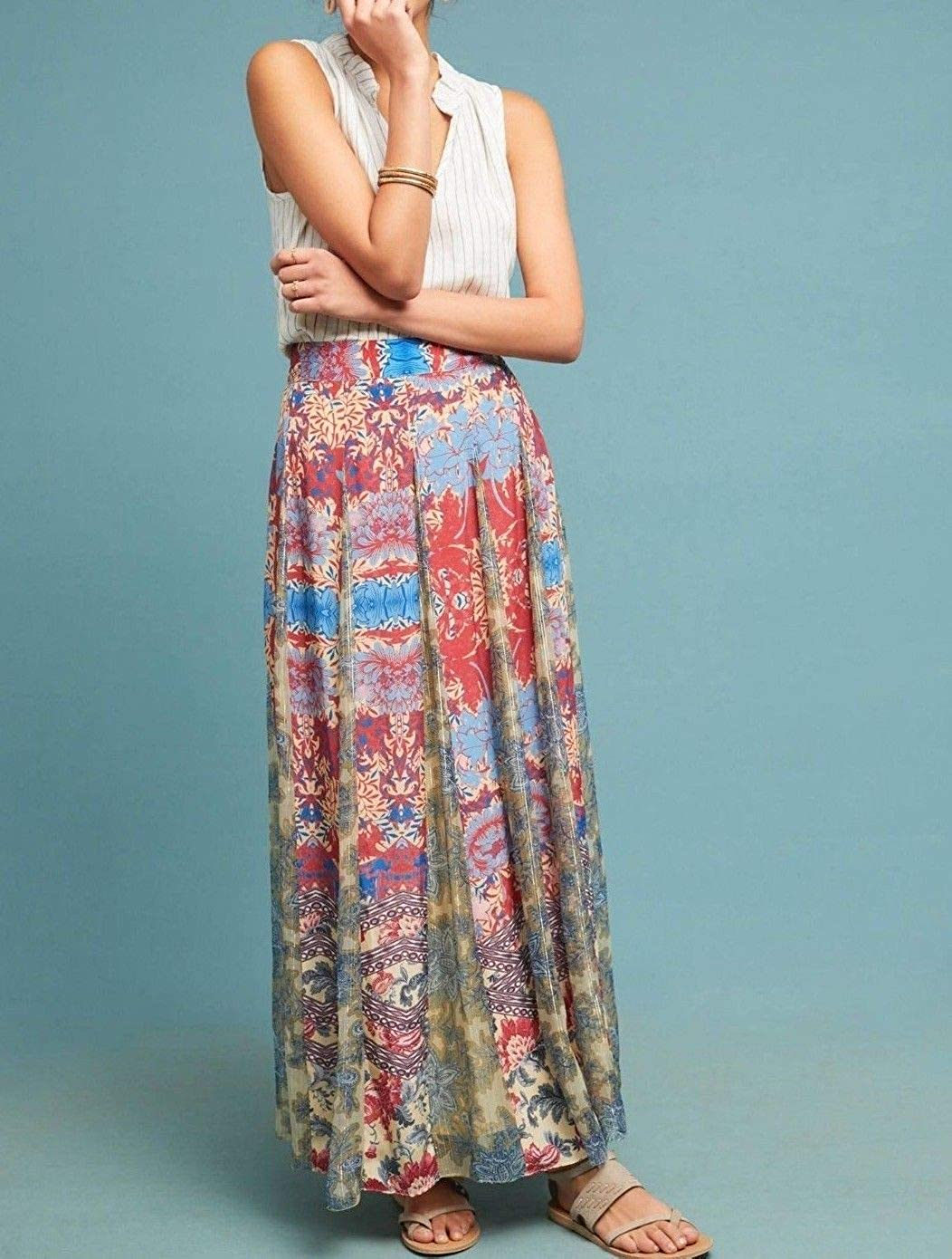 9a378517cd558 Anthropologie Louvre Maxi Skirt by Hemant & Nandita - NWT (XS) at Amazon  Women's Clothing store: