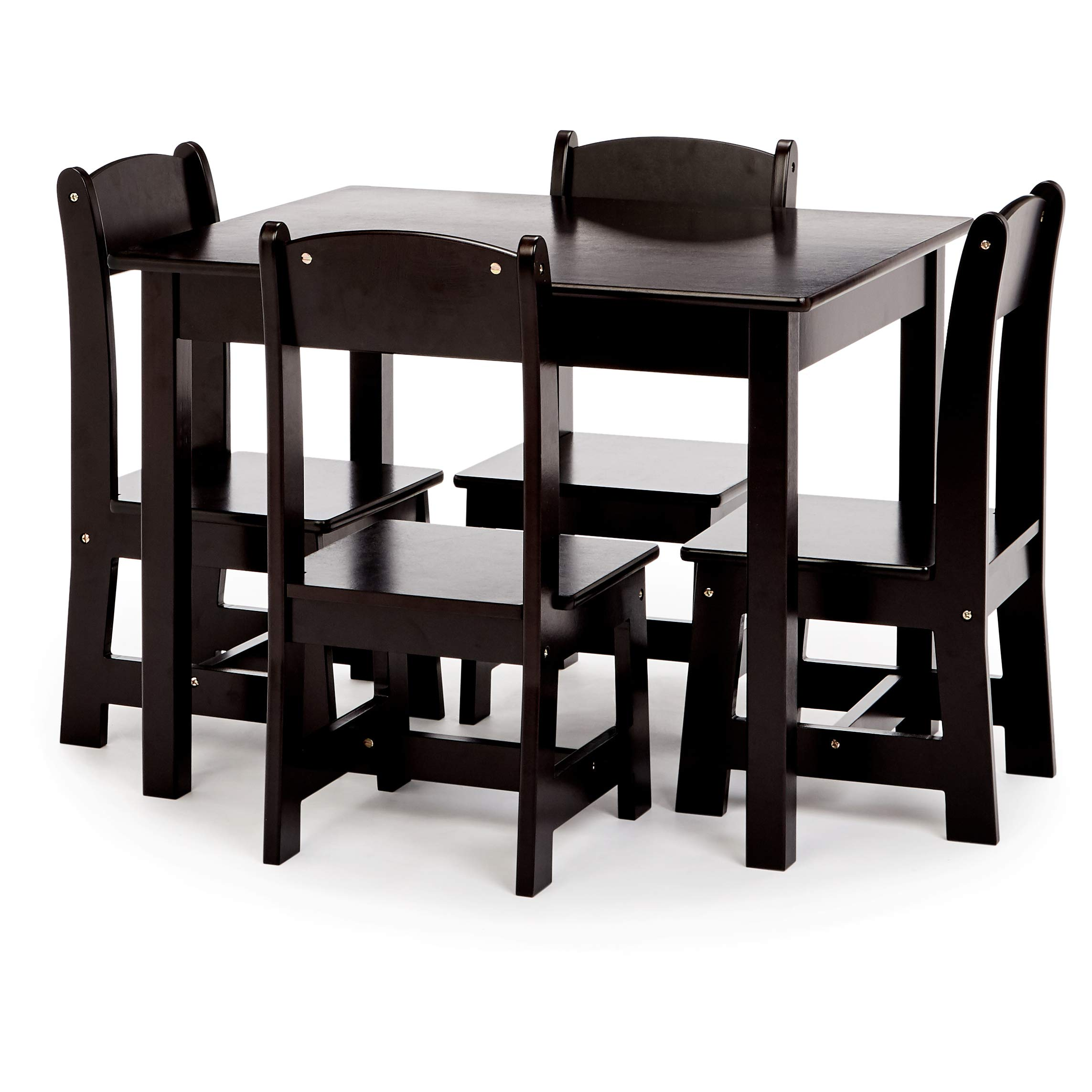 Phoenix Home Fermo Kid's Wood Table and Chair Set, Vanilla Bean Black by Phoenix Home