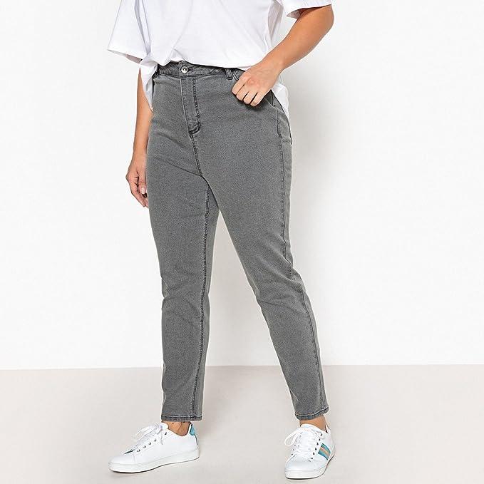 9951739e2a2a CASTALUNA Donna Jeans Mom Vita Alta Taglia 52 Grigio  Amazon.it   Abbigliamento