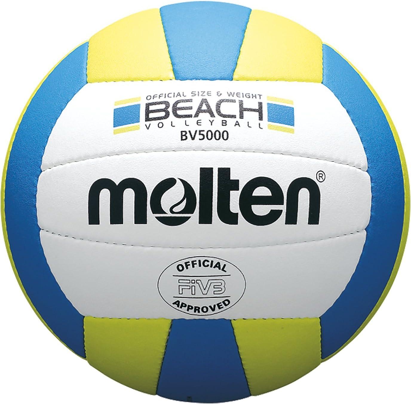 MOLTEN BV5000 Balón, Unisex Adulto, Amarillo y Azul, 5: Amazon.es ...