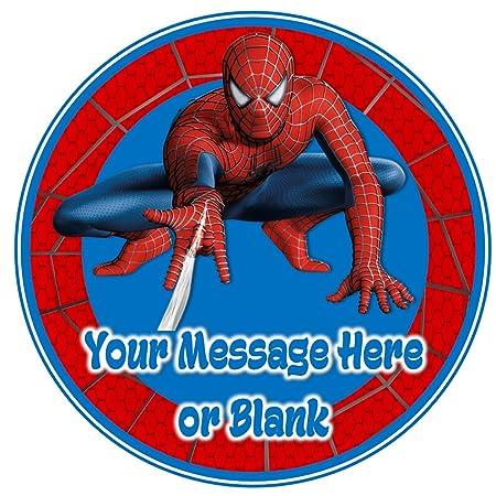 Print4you ND3 Spiderman Cumpleaños Personalizable Redondo ...
